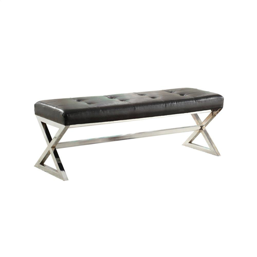 X-Base Bench,Black Bonded Leather