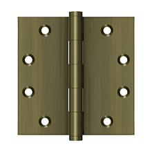 """View Product - 4-1/2"""" x 4-1/2"""" Square Hinges - Antique Brass"""