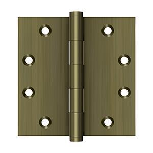 "Deltana - 4-1/2"" x 4-1/2"" Square Hinges - Antique Brass"