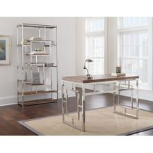 Alize 2-Piece Desk Set, Driftwood (Desk & Bookcase)