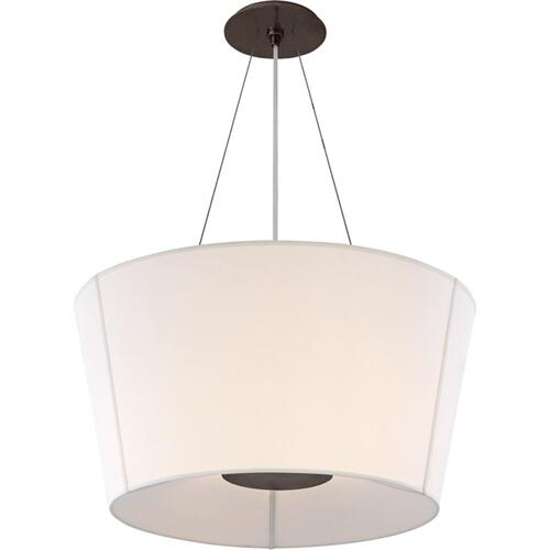 Visual Comfort BBL5115BZ-L Barbara Barry Hoop 2 Light 26 inch Bronze Hanging Shade Ceiling Light, Medium Inverted