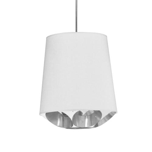 Product Image - 1lt Hadleigh Pendant Wht/sv Small Polished Chrome