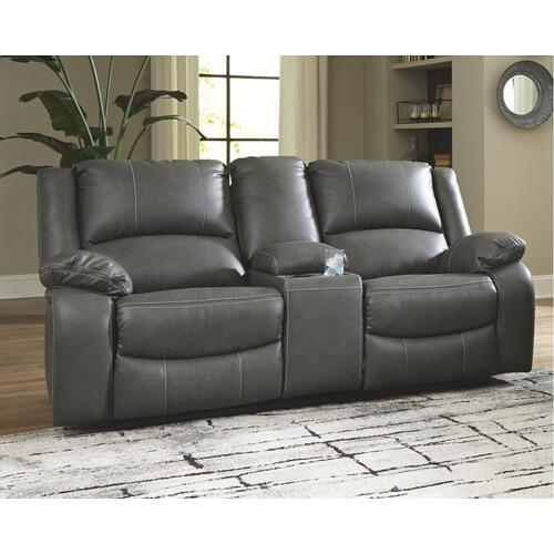 Gallery - Calderwell Power Reclining Loveseat With Console