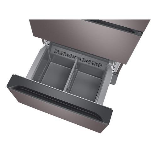 17.3 cu. ft. Smart Kimchi & Specialty 4-Door French Door Refrigerator in Platinum Bronze