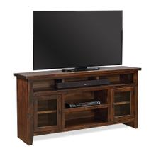 "65"" Console w/ Doors in Tobacco Finish"