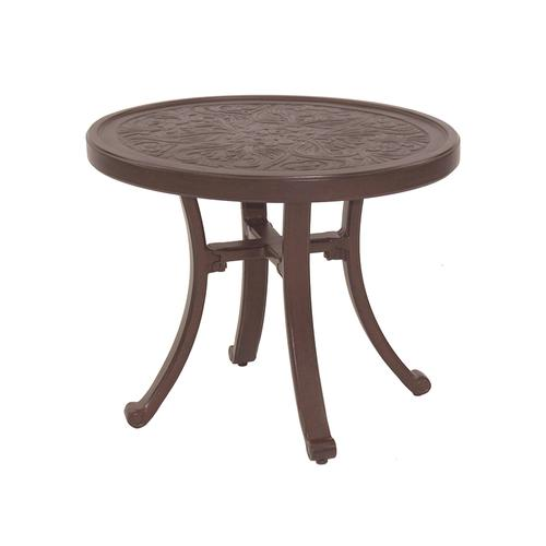 """Castelle - 26"""" Vintage Round Occasional Table"""