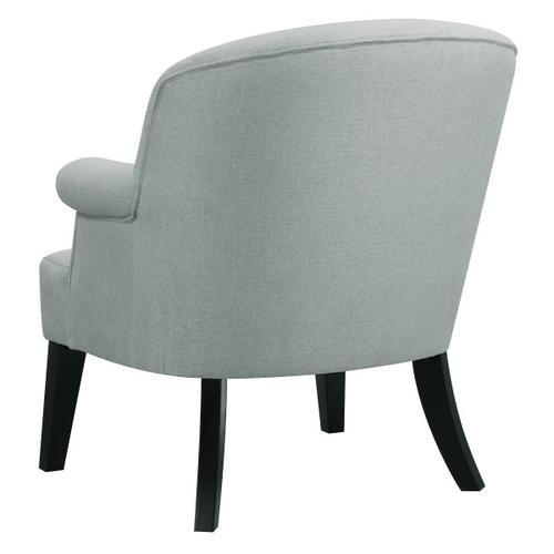 Upholstered Roll Arm Accent Chair in Sateen Fog