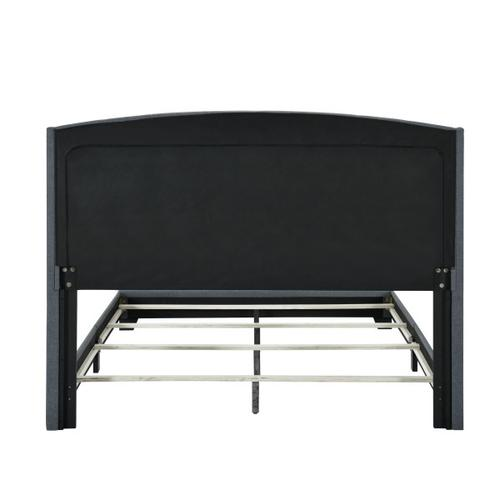 Accentrics Home - Queen Tufted Wing Bed in Charcoal