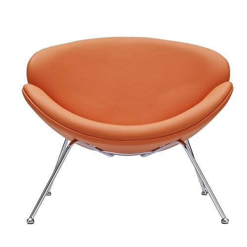 Modway - Nutshell Upholstered Vinyl Lounge Chair in Orange