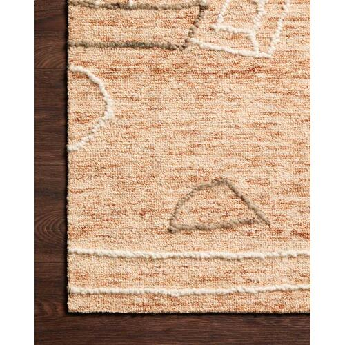 LEE-05 Terracotta / Natural Rug