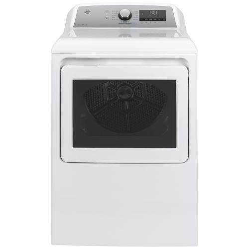 GE® 7.4 Cu. Ft. Capacity Electric Dryer with Built-In Wifi White - GTD84ECMNWS