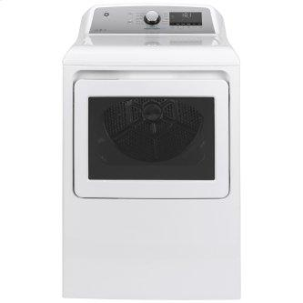 GE™ 7.4 Cu. Ft. Capacity Electric Dryer with Built-In Wifi White - GTD84ECMNWS