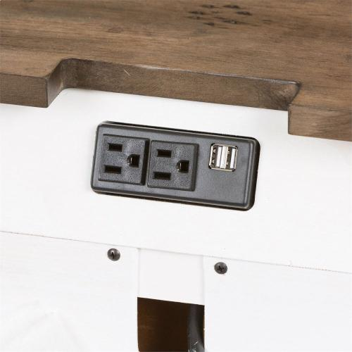 3 Drawer Bombay Night Stand w/ Charging Station