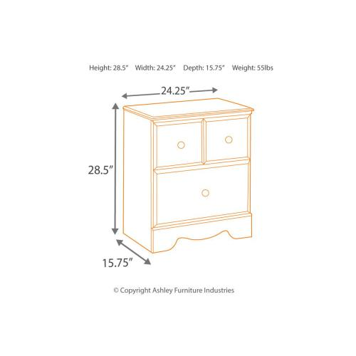 B271 Two Drawer Nightstand (Shay)