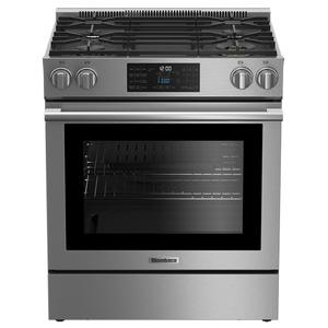 "30"" gas stainless range with 5.7 cu ft self clean oven, 4 burner Product Image"