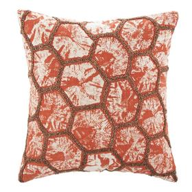 Falla Pillow - Orange/white