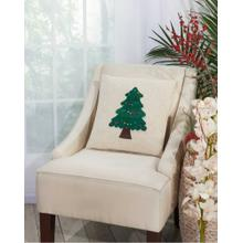 """Home for the Holiday L1855 Natural 16"""" X 16"""" Throw Pillow"""