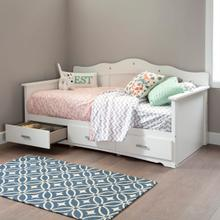 View Product - Tiara - Bed, Pure White, Twin