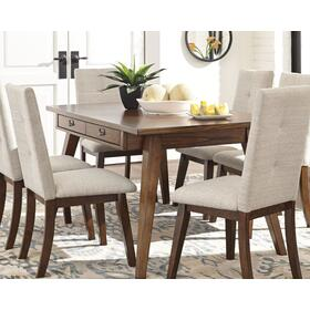 Centiar Dining Room Table & 4 Chairs Two-tone Brown/White