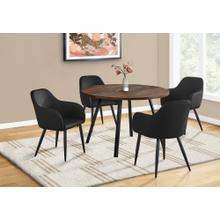 "See Details - DINING TABLE - 48""DIA/ BROWN RECLAIMED WOOD / BLACK METAL"