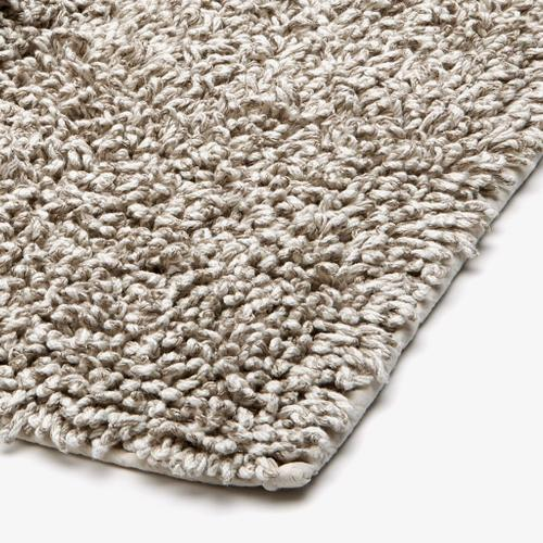 "Fray Linen and Cotton Bath Rug 23"" x 23"" in Ivory/Natural"