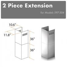 "ZLINE 2-36"" Chimney Extensions for 10 ft. to 12 ft. Ceilings (2PCEXT-597-304)"