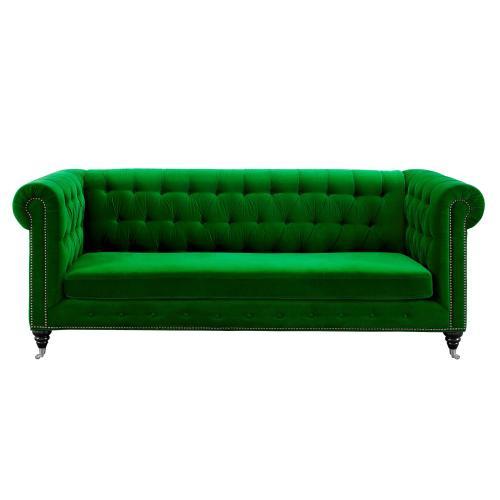 Tov Furniture - Hanny Green Velvet Sofa