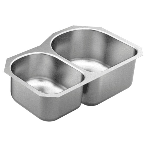1800 Series 31.25 x 18.25 stainless steel 18 gauge double bowl sink