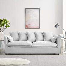 Avalon Slipcover Fabric Sofa in Light Gray