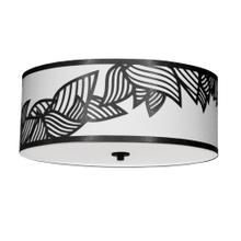 4lt Flush-mount P Chrome Black & White Shade