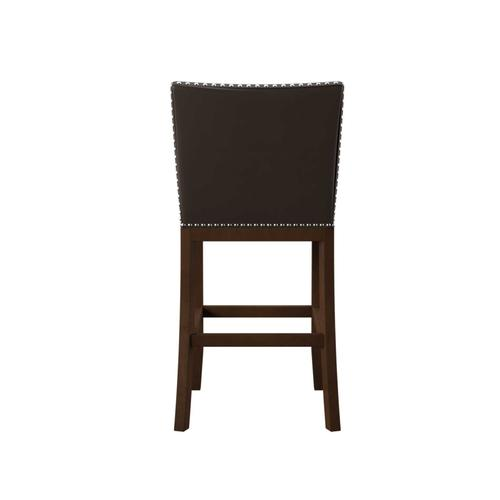 """Gallery - Tiffany 24"""" Counter Stool, Brown Leatherette"""