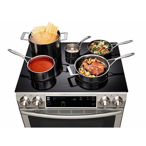 5.8 cu. ft. Slide-In Electric Range with Flex Duo™ & Dual Door in Stainless Steel