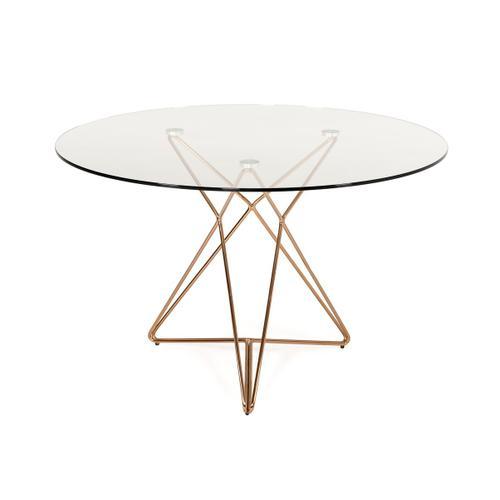 Modrest Ashland Modern Glass Round Dining Table