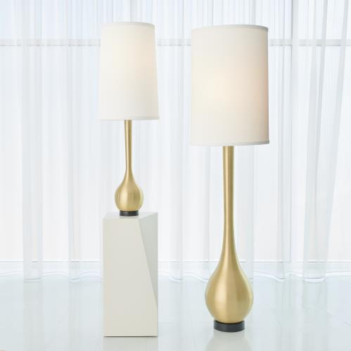 Bulb Vase Table Lamp-Brushed Brass