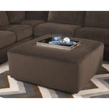 See Details - Signature Design by Ashley Jessa Place Oversized Ottoman in Chocolate Fabric