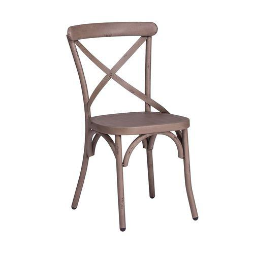 Liberty Furniture Industries - X Back Side Chair - Vintage Cream
