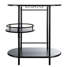 See Details - Iva 3 Tier Swivel Bar Table - Matte Black