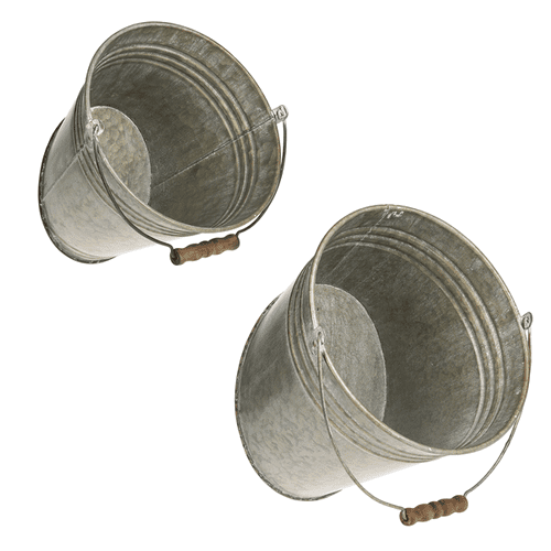 Galvanized Bucket Wall Planter (2 pc. set)