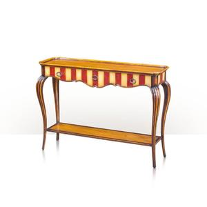 Theodore Alexander - Artful Curve Console, Rouge & Ivory