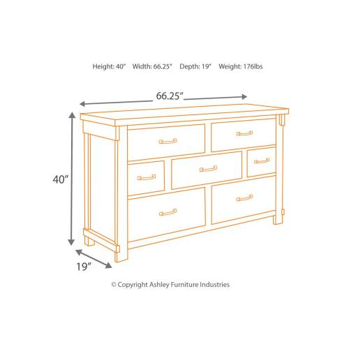 Lakeleigh Dresser Brown