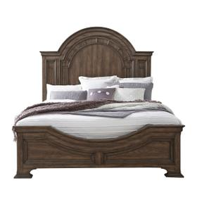 Glendale Estates Queen Footboard and Slats in Brown