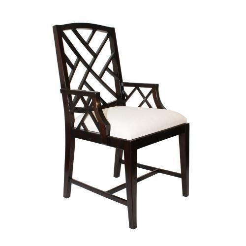 Fretwork Dining Arm Chair