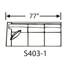 Sectional Component-One Arm Sofa, Skirted.
