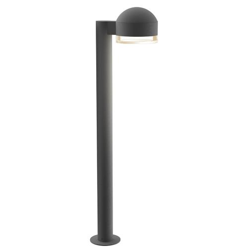 """Sonneman - A Way of Light - REALS® LED Bollard [Size=28"""", Color/Finish=Textured Gray, Lens Type=Dome Cap and Clear Cylinder Lens]"""