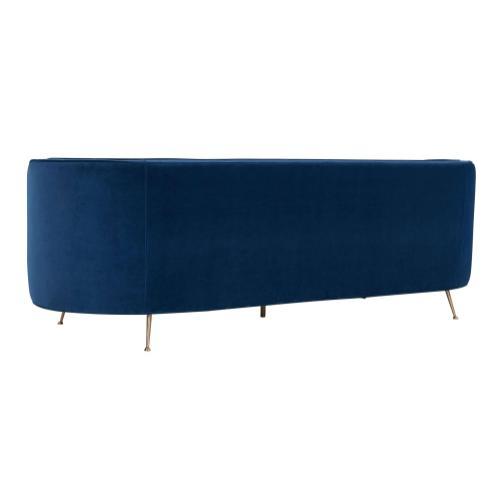 Tov Furniture - Flare Navy Velvet Sofa