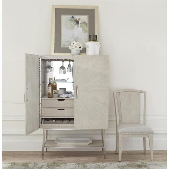 Riverside - Lilly - Upholstered Splat Back Chair - Champagne Finish