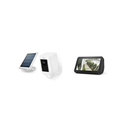 Spotlight Cam Solar with Echo Show 5 - Black