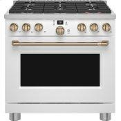 "36"" Smart Dual-Fuel Commercial-Style Range with 6 Burners (Natural Gas)"