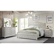 Madison - California King Bed Rails - Rustic White Finish