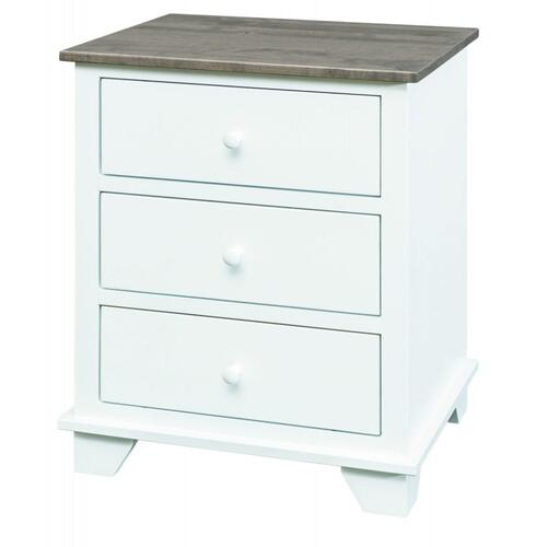 Portland 3 Drawer Nightstand 2 Tone